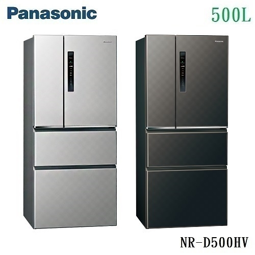 結帳現折享24分期0% Panasonic 國際牌 變頻四門電冰箱 NR-D500HV 鋼板面無邊框 公司貨