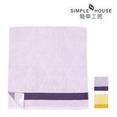 【簡單工房】三角色緞緹花浴巾 70x140cm 100%棉 台灣製造