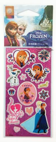 【金玉堂文具】迪士尼Disney 冰雪奇緣Frozen燙金貼紙FRBC25-2 揮手的雪寶