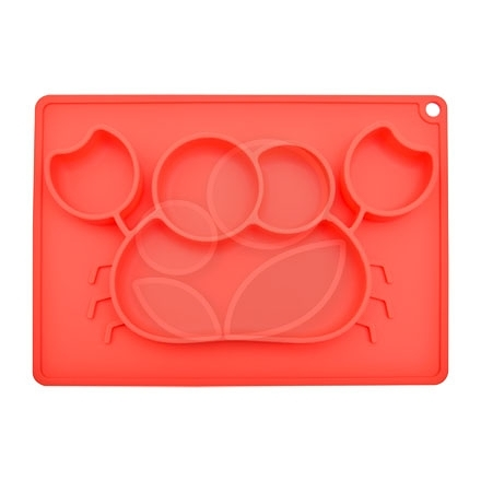Expect 兒童矽膠餐盤(螃蟹款) - 紅色【佳兒園婦幼館】