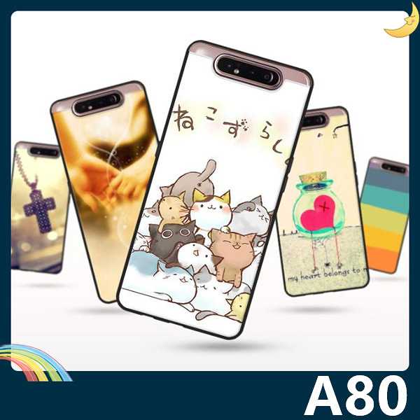 三星 Galaxy A80 彩繪Q萌保護套 軟殼 卡通塗鴉 小清新 防指紋 全包款 矽膠套 手機套 手機殼