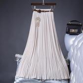 夏季新款雪紡百褶半身裙