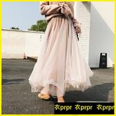半身長裙-網紗裙高腰半身裙中長款韓版大擺A字仙女蓬蓬裙 衣普菈
