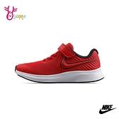 NIKE童鞋 男女童運動鞋 STAR RUNNER 2 慢跑鞋 跑步鞋 魔鬼氈運動鞋 Q7085#紅色◆OSOME奧森鞋業