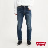 Levis 男款 510緊身窄管牛仔褲 / 深藍刷白 / 彈性布料