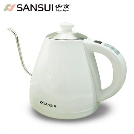 【SANSUI山水】電子溫控手沖細口壺SWB-29N(電子壺/電熱水壺/快煮壺)