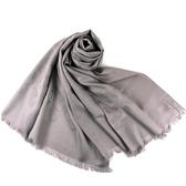 美國正品 COACH 經典小C LOGO羊毛混絲薄圍巾-灰色【現貨】