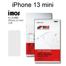 【iMos】3SAS系列保護貼 iPhone 13 mini (5.4吋) 正面 背面 超潑水、防污、抗刮