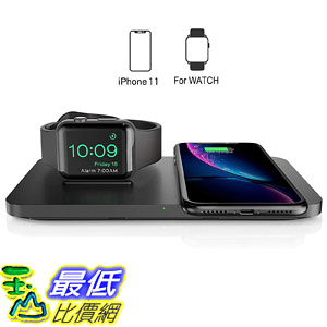 [8美國直購] 充電器 Wireless Charger, Seneo 2 in 1 Dual Wireless Charging Pad with iWatch Stand