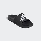 ADIDAS 男女款黑色運動拖鞋-NO.F34770