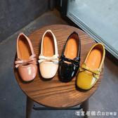 童鞋女童皮鞋春秋季小女孩中大童單鞋兒童鞋子公主鞋學生豆豆鞋子 漾美眉韓衣