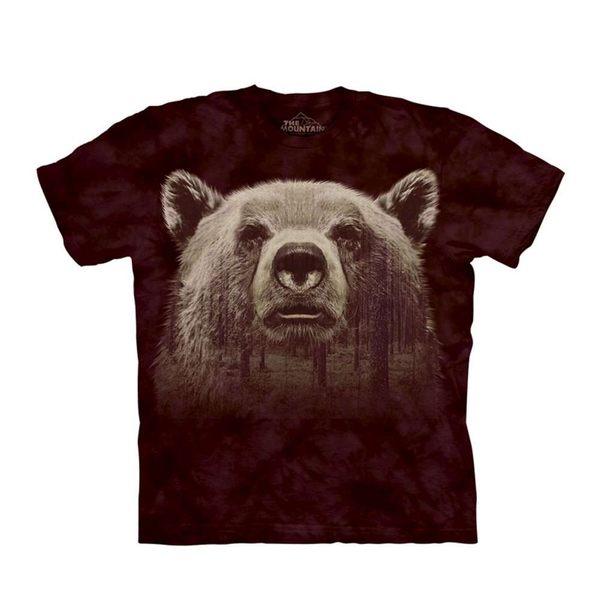 【摩達客】(預購) 美國進口The Mountain 熊臉森林 純棉環保短袖T恤(10416045008a)