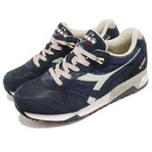DIADORA 復古慢跑鞋 N9000 NYL 藍 白 麂皮鞋面 經典款 潮流時尚系列 運動鞋 男鞋【PUMP306】 DA160827C4983