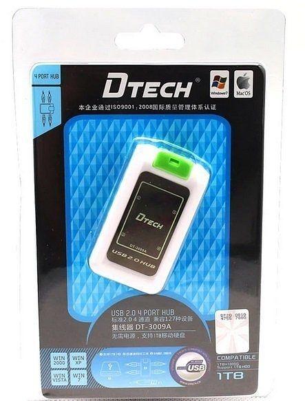 【生活家購物網】DTECH USB 2.0 4口HUB USB 4PORT 分線器集線器 無須電源支持1TB硬碟 DT-3009