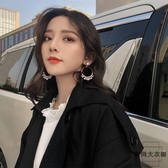 設計感耳環小眾女韓國氣質個性長款耳釘無耳洞耳夾【時尚大衣櫥】