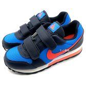 《7+1童鞋》中童 NIKE MD RUNNER 2 (PSV) 經典款 運動鞋 慢跑鞋 F856 藍色