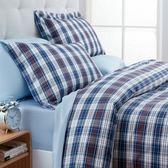 藍開斯特色織床被組 加大
