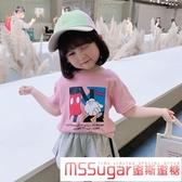 純棉童裝卡通上衣女童短袖t恤兒童百搭洋氣寶寶體恤2020夏裝新款