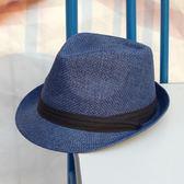 店慶優惠-夏季英倫小禮帽大碼帽子女出游遮陽草帽草編女士爵士帽