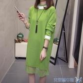 加絨休閒運動服套裝女秋冬學生韓版大碼拉鏈開衫連帽T恤寬鬆兩件套厚 交換禮物