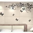 創意個性時尚 蝴蝶花藤 居家裝潢佈置 壁貼【YV0512】BO雜貨AY954