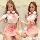 情趣內衣女式日系學生裝清純可愛短裙制服性感緊身套裝蝴蝶結校服 自由角落