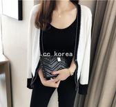 小香風針織螺紋棉氣質外套 CC KOREA ~ Q17556