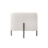 時尚棉麻方型椅凳-米白色