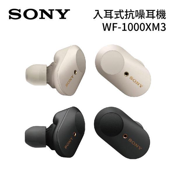 預購 2019年新款 SONY WF-1000XM3 入耳式耳機 無線藍芽降噪耳機 真無線技術 台灣公司貨