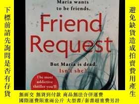 二手書博民逛書店英文原版罕見Friend Request : The most addictive psychological t