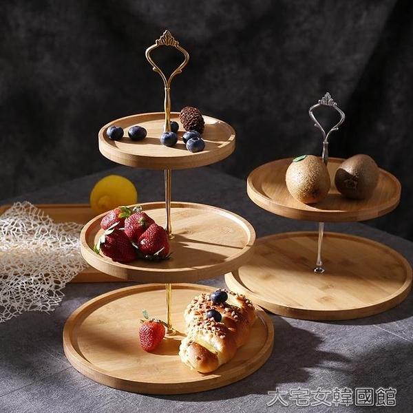 蛋糕架三層水果盤創意現代客廳家用多雙層下午茶餐具糖果零食蛋糕點 大宅女韓國館YJT