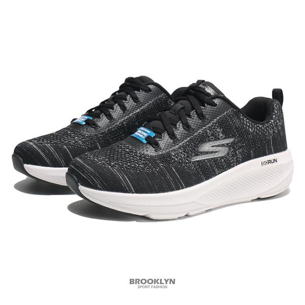 SKECHERS 慢跑鞋 GO RUN ELEVATE 黑白 雪花編織 運動 男 (布魯克林) 220187BKGY