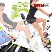 百變飛輪式磁控健身車(三種角度)折疊臥式車腳踏車.摺疊美腿機自行車專賣店【SAN SPORTS】