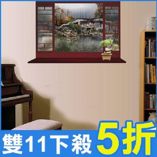 創意壁貼-中式庭院窗戶風景畫 MJ8018A-989【AF01013-989】i-Style居家生活