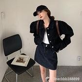 牛仔外套 短款牛仔外套女ins潮年新款春秋炸街韓版寬鬆小個子開衫上衣 城市科技
