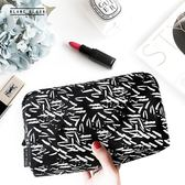 BLANC BLACK韓國化妝包女大容量手提帆布化妝品便攜收納包