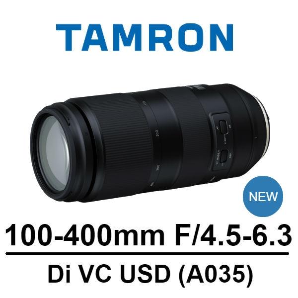 【南紡購物中心】TAMRON 100-400mm f4.5-5.6 Di VC USD A035 [公司貨]