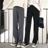闊腿褲女春秋季高腰拖地褲工裝西裝褲寬鬆大碼休閒直筒褲女長褲子