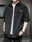 牛仔外套外套男士新款秋季衣服韓版潮流襯衫休閒工裝流行男裝牛仔夾克 交換禮物