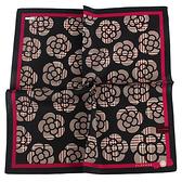 CLATHAS滿版山茶花純綿帕巾(黑色)989265-20