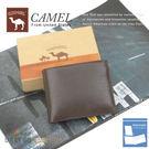 CAMEL卡梅爾駱駝真皮夾牛皮包短夾男夾-中翻可拆12202-2咖啡