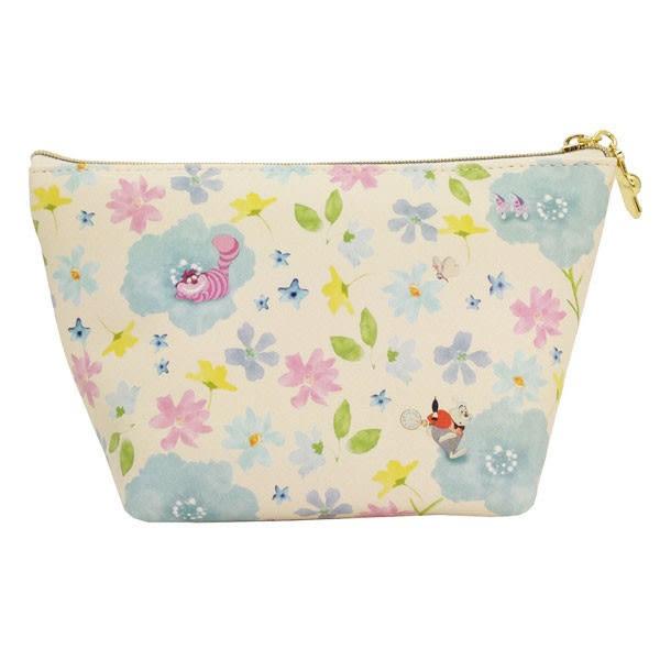 Hamee 日本正版 迪士尼 秘密花園 皮革 化妝包 相機包 隨身包 萬用收納包 愛麗絲 (白) FT45311