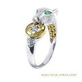 穩鑽豹18K金戒指 King Star海辰國際珠寶 線戒 飾品 鑽石 休閒戒 戒指