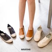 現貨-MIUSTAR 韓款!超軟Q鞋底貝殼頭皮革休閒鞋(共3色,35-39)【NF4299ZP】