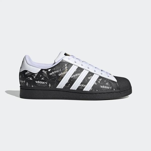 【一月大促折後$3380】Adidas Superstar 男鞋 運動 休閒 慢跑 貝殼 復古 經典 情侶 愛迪達 黑 白 FV2820