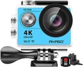 AKASO【美國代購】4K WiFi 運動攝影機 12MP超高畫質防水170度廣角EK7000 - 水藍色