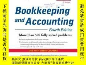 二手書博民逛書店Schaum s罕見Outline Of Bookkeeping And Accounting Fourth Ed