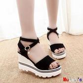 伊人閣 楔形涼鞋 坡跟魚嘴鞋 羅馬涼鞋 鬆糕 厚底 高跟鞋