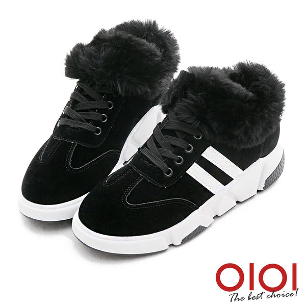 休閒靴 異材雙拼運動風內增高休閒靴(黑)*0101shoes【18-701bk】【現貨】