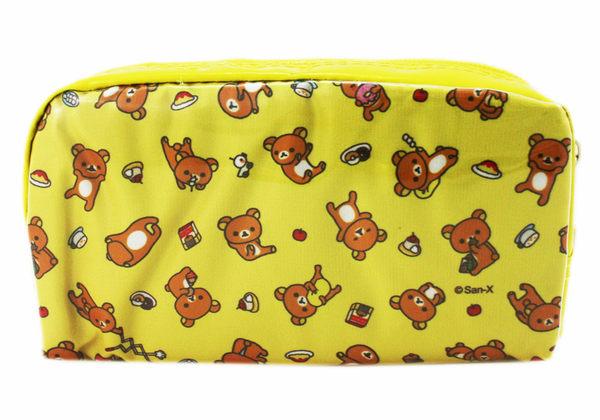 【卡漫城】 拉拉熊 方形 筆袋 滿版 ㊣版 Rilakkuma 懶懶熊 萬用包 化妝包 鉛筆盒 萬用袋 收納包